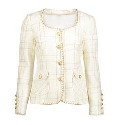 Paris Tweed Jacket | Cream & Gold