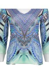 Paris Aqua Jewel Top