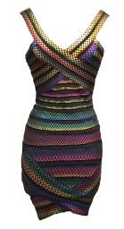 Paris Rainbow Check Band Dress