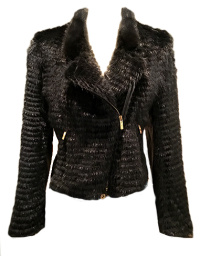Paris Biker Jacket - Mink & Leather