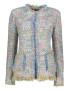 Maruschka de Margo Rainbow Tweed 2 Pockets - Rainbow long Tweed jacket