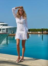 MELISSA ODABASH ABBY SHORT SHIRT DRESS WHITE