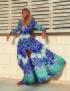 MELISSA ODABASH CAROLINE BUTTON UP LONG DRESS TROPIC