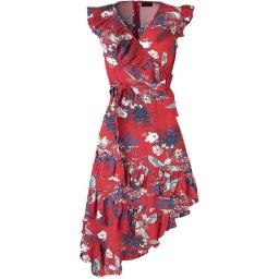 Ravn Becca Floral Dress | red