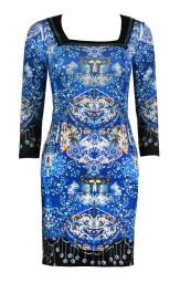 PARIS KALEIDESCOPE DRESS|ROYAL BLUE