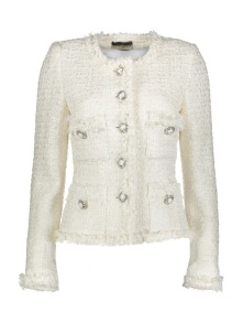 MARUSCHKA DE MARGO TWEED|CREAM & PEARLS - Pearl White Tweed 36