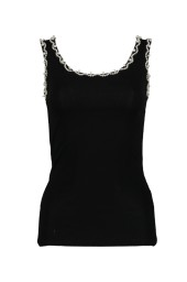 PARIS PEARL TANK TOP|BLACK