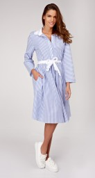 PARIS PIN STRIPE SHIRT DRESS