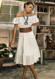 PARIS RIVIERA WHITE BRODERIE ANGLAISE DRESS