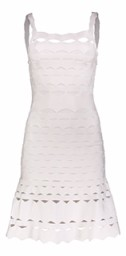 PARIS CUT-OUT BAND DRESS | WHITE
