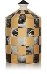 FORNASETTI SCACCA GOLD PERFUME CANDLE