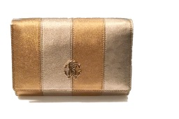 ROBERTO CAVALLI CLUTCH GOLD AND BRONZE