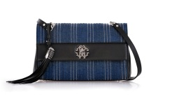 ROBERTO CAVALLI DENIM & LEATHER BAG