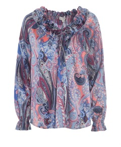 DEA KUDIBAL ASHLEY PAISLEY STRETCH SILK BLOUSE - small