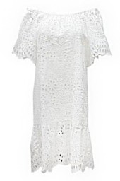 MISS JUNE PARIS OPEN LACE DRESS WITH SLIP | WHITE