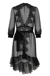 CREOLE CHIFFON DRESS   BLACK