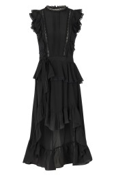 GAZELLE SILK LACE DRESS  BLACK