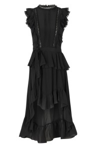 GAZELLE SILK LACE DRESS |BLACK