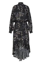 RAVN KEMI FLOWER DRESS   BLACK