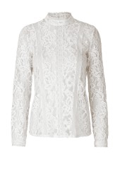 RAVN COHEN LACE BLOUSE | OFF WHITE