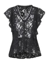 RAVN BUM LACE TOP | BLACK