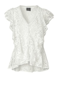 RAVN BUM WHITE LACE TOP - XS