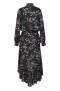 RAVN KEMI FLOWER DRESS   BLACK - XS