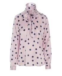 DEA KUDIBAL MORGAN STRETCH SILK BLOUSE | ROSE DOTS