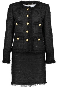 MARUSCHKA DE MARGO TWEED SUIT BLACK