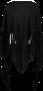 ALONPI LUXE CASHMERE CAPE /SUEDE CAPE  SUEDE BLACK FRINGES