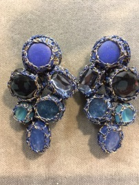 Boks &  Baum Earrings clips | Deep Blue