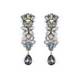 Tataborello Earrings with Clip   Grey