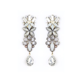 Tataborello Earrings with Clip   White