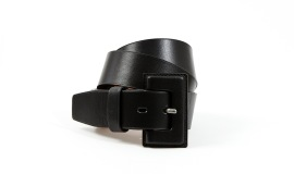 MAISON VAINCOURT BLACK SHINY BELT