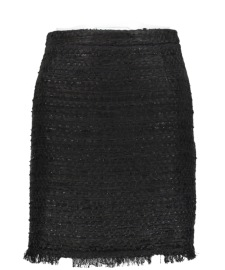 MARUSCHKA DE MARGO TWEED SKIRT | BLACK