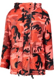 HISTORY REPEATS CAMOULFLAGE PARKA | RED