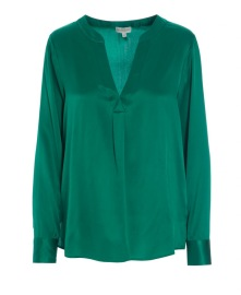 DEA KUDIBAL SANTENA STRETCH SILK SHIRT | GREEN
