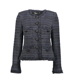 Maruschka de Margò Midnight Tweed With Button | Midnight Blue