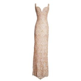 Holt MiamiMaison Du Luxe Brie Lace Gown | Nude
