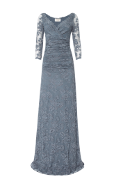 Olvis' Lace Gown | Grey (Please contact boutique to order)