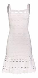 PARIS CUT-OUT BAND DRESS | WHITE