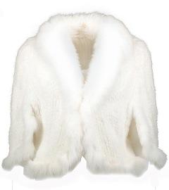 Mink Knitted Bolero | white