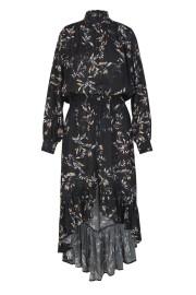 RAVN KEMI FLOWER DRESS | BLACK
