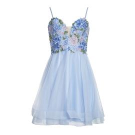 Basix Black Label Dress | Soft Blue
