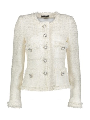 Maruschka de Margo - Tweed jacket White