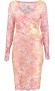 OLVIS STRETCH LACE DRESS | FLORAL PINK MULTI HUE