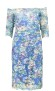 OLVIS STRETCH LACE DRESS | FLORAL BLUE MULTI HUE
