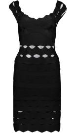PARIS BAND DRESS WITH CUT OUT DETAILS | BLACK