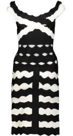 PARIS STIPRED BAND DRESS | BLACK & WHITE