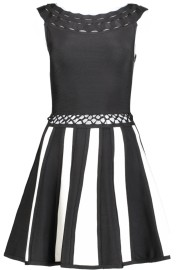 PARIS BAND DRESS - CUT OUT DETAILS | BLK & WHT STRIPE